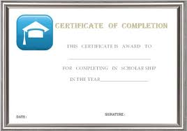 certificates of completion for kids certificate of completion template 55 word templates editable