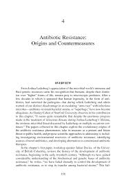 antibiotic resistance origins and countermeasures microbial page 158