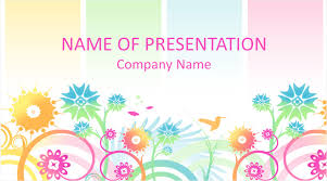 Flower Powerpoint Colorful Floral Powerpoint Background Templateswise Com