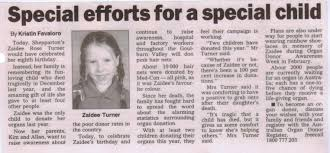 A Newspaper Article Newspaper Articles Zaidees Rainbow Foundation