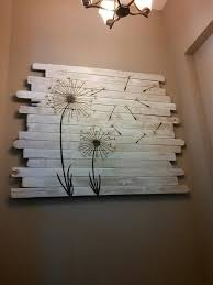 wooden tree wall decor diy pallet wall art with dandelions whitewashed boards diy on designs palm on wood palm tree wall art with pallet wall art with dandelions whitewashed boards diy on designs