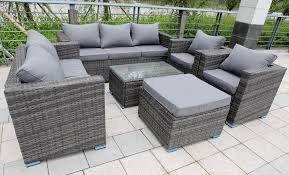 details about 8 seater new rattan garden furniture set sofa table chairs patio conservatory
