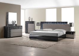 modern style bedroom furniture. Modern German Furniture | Black/Grey Lacquer High End Finish Roma (Queen Size Bed) Style Bedroom