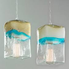 colorful pendant lighting. Sand And Turquoise Square Pendant Light Colorful Lighting
