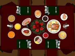 dinner table top view. excellent second life marketplace christmas dinner table for with table. top view