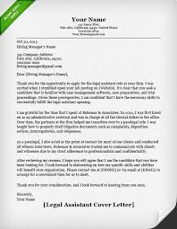 Legal Assistant Cover Letter Sample Letters Stationary Writing