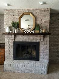 Light Grey Painted Brick Fireplace White Washing Brick With Gray Beige Walking With Dancers