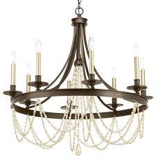 progress lighting allaire collection 8 light antique bronze chandelier