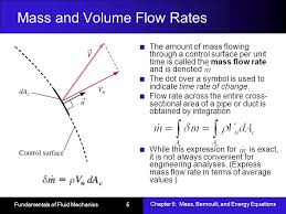 mass and volume flow rates