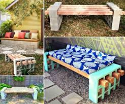 Then spray cooking spray inside the mold, or you can use olive oil, just to. Wonderful Diy Cinder Block Bench