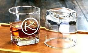 custom whiskey glasses monogram glass personalized monogrammed engraving set
