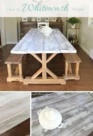 whitewash wood furniture. Whitewash Wood Pottery Barn Table Makeover, Painted Furniture N
