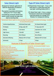 LED SOLAR STREET LIGHT 8W SET Solar Street Light Brochure