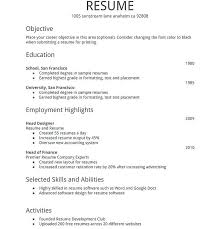 Basic Sample Resume Format New Resume Format Sample Krismoranus