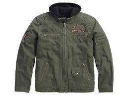 Harley Davidson Coat Rack 1000010000VM HarleyDavidson Jacket Long Way 10000in100 Green At 43