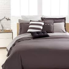 lacoste bedding solid grey brushed