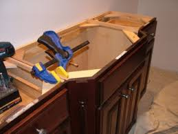 how to install a bathroom vanity. This Bathroom Vanity Cabinet Is Really Three Separate Cabinets And Two Accessory Pieces Of Trim. How To Install A R