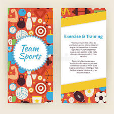 basketball training flyer template flyer template of exercise and training sport objects and elemen