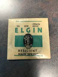 Elgin Mainspring Chart Details About Elgin Factoiry Mainspring For 12s No 1720 Steel