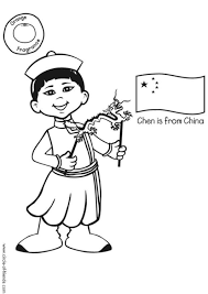 Kleurplaat Chen Met Chinese Vlag Afb 13007 Images