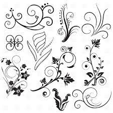 Vignette Design Arabesque Vintage Design Elements And Curly Vignettes Stock Vector Image