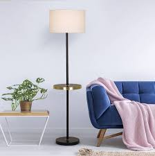 floor lamp with gold table