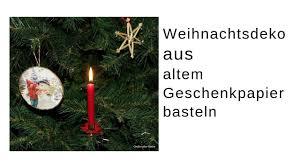 Christbaumschmuck Basteln Upcycling Mit Pappe U Geschenkpapier Bastelidee Einfach