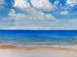 beach painting soft sea waves beach paintings by nimanthi ekanayake
