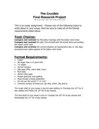 Thesis Statement Examples For Essays Witchcraft Research Paper Thesis Consideration S
