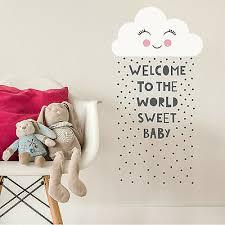 KAWAII <b>CLOUD QUOTE</b> NEW BABY CHILDREN'S KIDS BEDROOM ...