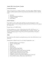 Cover Letter Resume Format For Mba Fresher Resume Format For