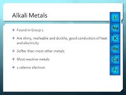The Periodic Table Chapter 19. Properties of Metals  Metals are ...