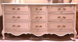 Painted French Provincial Bedroom Furniture Diy French Dresser Slipcovered Grey