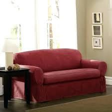 2 piece sofa slipcover 2 piece sofa slipcover piped red brown sage suede sure fit stretch