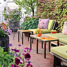 Backyard furniture ideas Cheap Look To Flowers And Plants For Color And Pattern Intrabotco Outdoor Furniture And Fabric Ideas