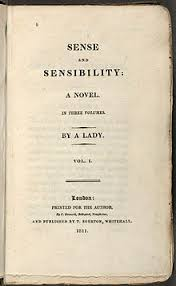 reception history of jane austen  title page reads sense and sensibility a novel in three volumes by