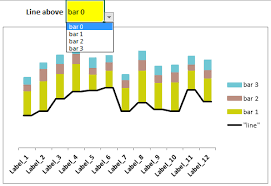 Excel Stacked Column Chart With Optional Lines Choose The