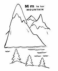 Small Picture ABC Alphabet Coloring Sheets M is for Mountain HonkingDonkey
