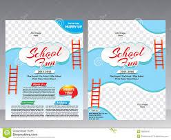 school fun flyer magazine design template stock vector image school fun flyer magazine design template