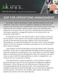 Statement of purpose for operations management