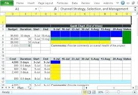 Marketing Planner Excel Project Plan Template In Excel Management Marketing Channel