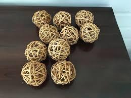 Decorative Woven Balls Classy Vase Fillers Set Of 32 Decorative Woven Balls Home Decor For