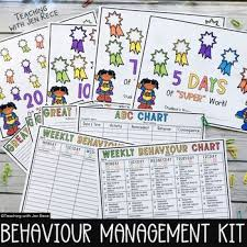 Chart Kit Weekly Behaviour Chart Kit