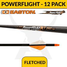 Easton Powerflight Fletched 12 Pack
