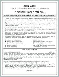 Auto Electrician Resume Format Journeyman Unique Apprentice Free ...