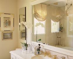 Art deco bathroom mirror powder room transitional with wood trim ...