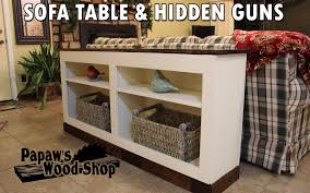 Hidden Firearms Concealment Furniture – Sofa Table Bookcase with