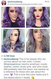 Hair Color Fade Chart Purple Mermaid Hair Color Naturally Fading To A Pastel