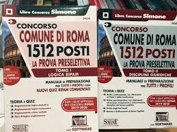 Kit Concorso Comune di Roma 1512 Posti Prova Preselettiva Tomo 1 - 2