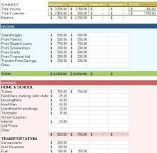 College Budget Spreadsheet Image Result For Sample College Budget